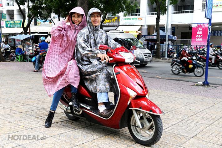 Áo mưa không xẻ tà tiện dụng