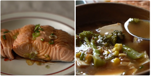 Cách nấu canh đậu tương Hàn Quốc với cá hồi