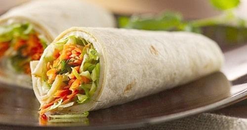 Sandwich cuộn - thức ăn chứa nhiều tinh bột ~ 36 grams/cuộn
