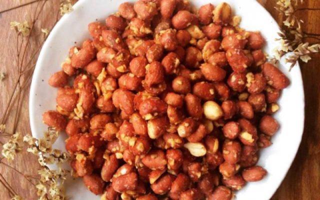 cách làm đậu phộng tỏi ớt