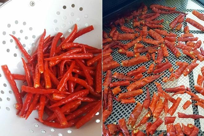 cách làm ớt bột tại nhà