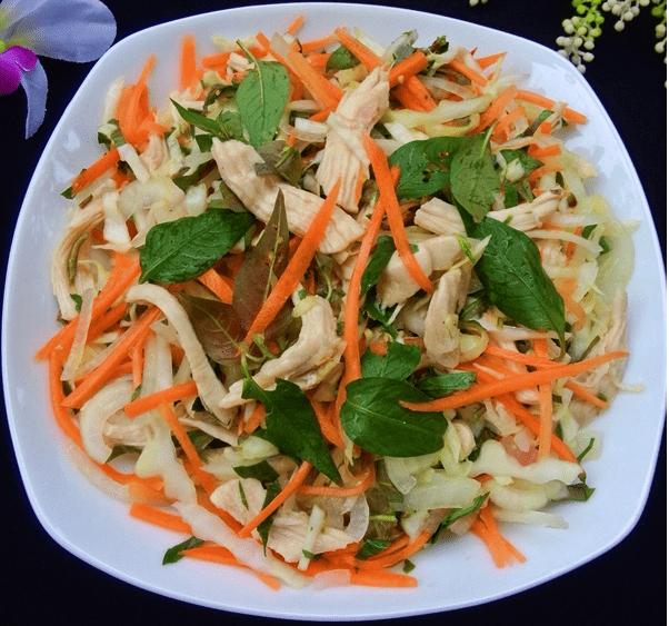 hướng dẫn cách làm gỏi gà bắp cải