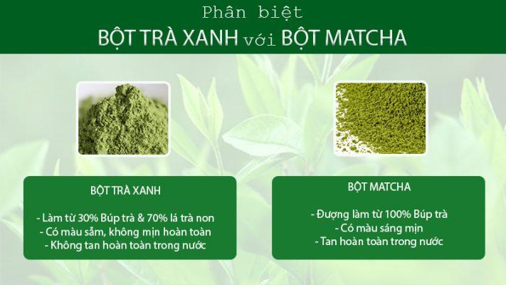 phân biệt bột trà xanh và matcha