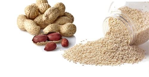 công thức làm sữa từ các loại hạt đậu phộng và mè trắng