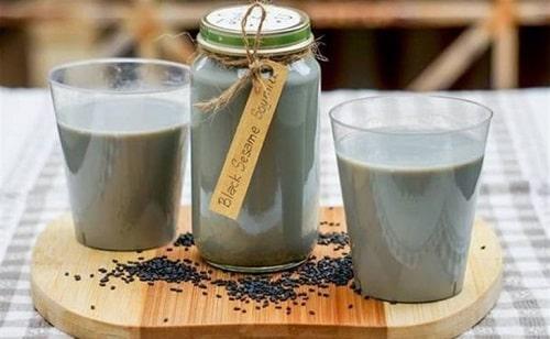 sữa hạt mè đen làm đẹp da