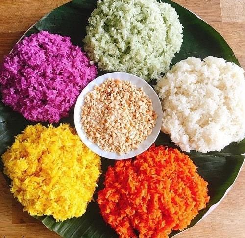khám phá ẩm thực xôi ngũ sắc của người tày